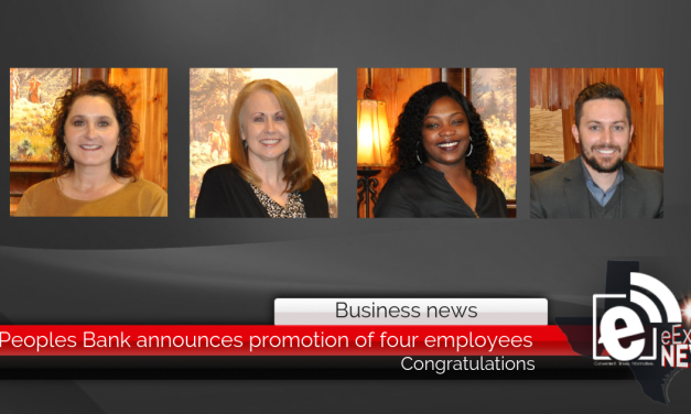 Peoples Bank announces promotion of four employees || Congratulations