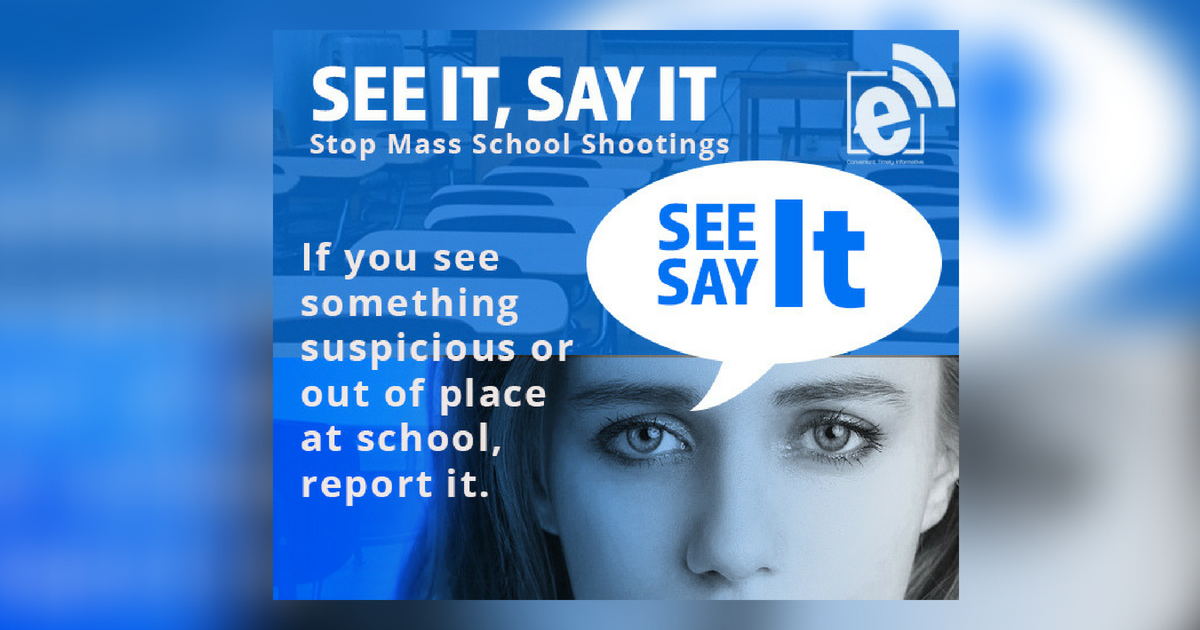 Report suspicious behavior at school || If you See It, Say It