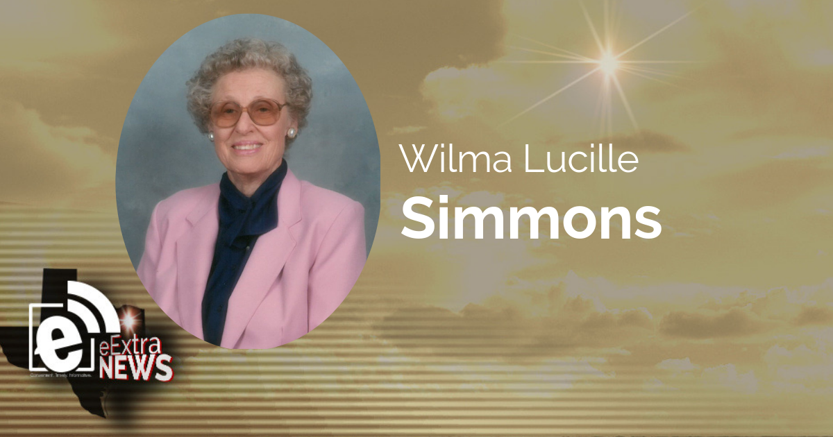 Wilma Lucille Simmons of Maxey, Texas