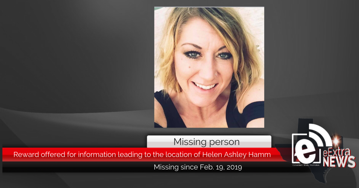 MISSING PERSON: Reward offered for information leading to the location of Helen Ashley Hamm