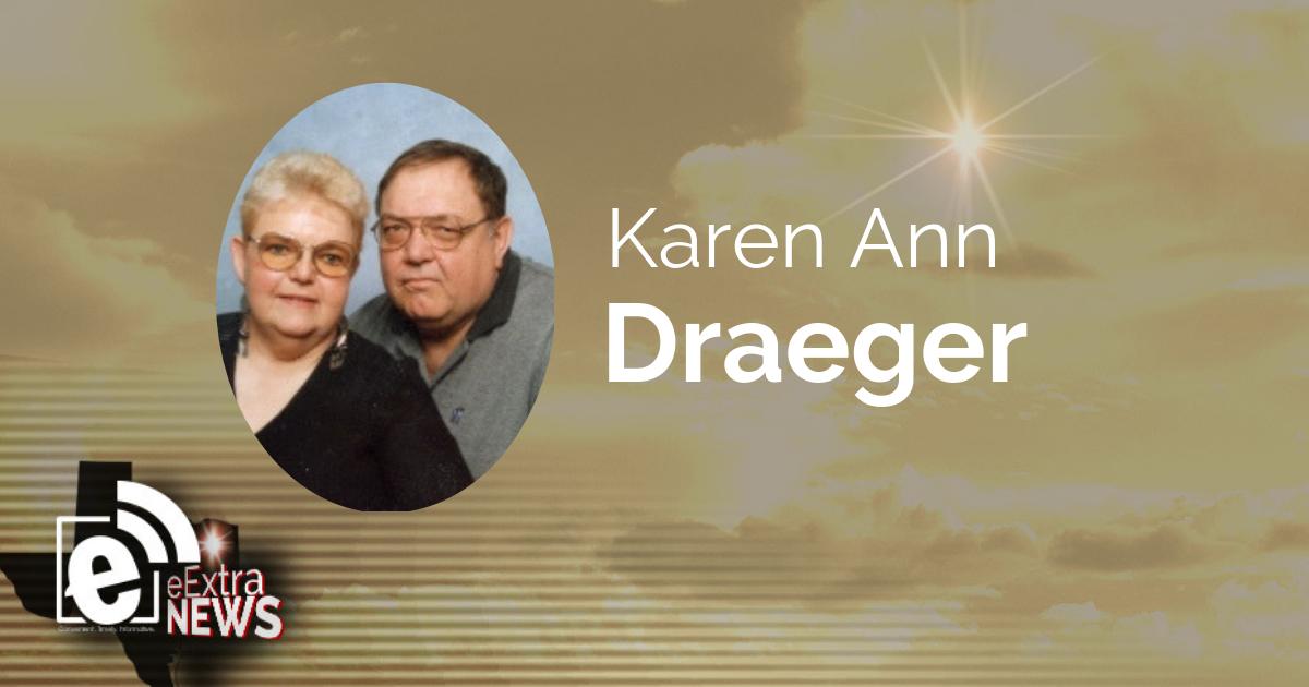 Karen Ann Draeger formerly of Paris, Texas