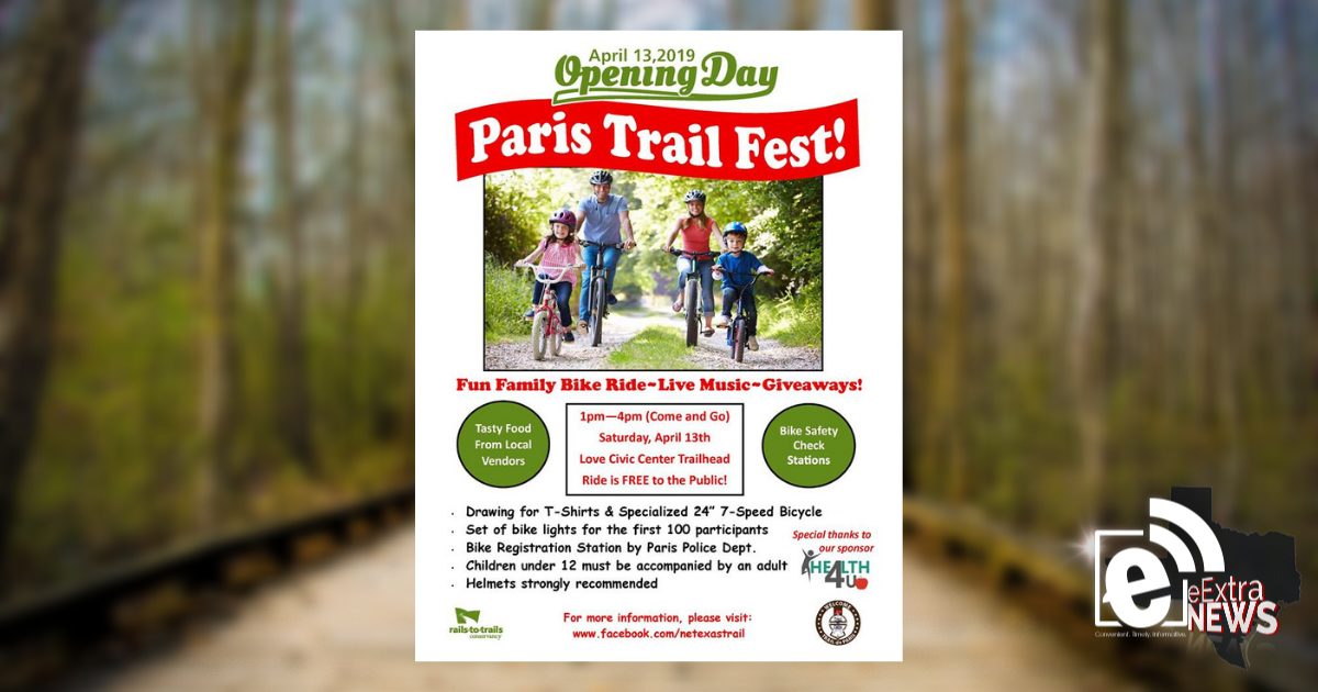 Northeast Texas Trail celebrates opening day on April 13 || Activity-filled day in Lamar County