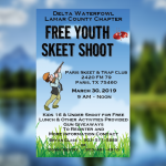 Delta Waterfowl Lamar County Chapter free youth skeet shoot set for March 30