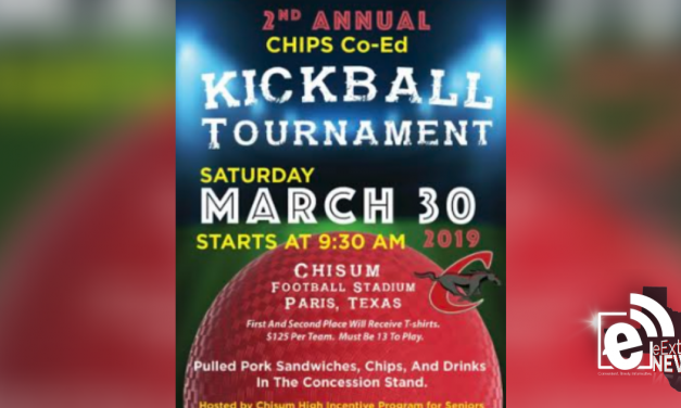 CHIPS Co-Ed kickball tournament set for March 30
