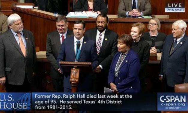 Rep. Ratcliffe commemorates Congressman Ralph Hall on U.S. House floor