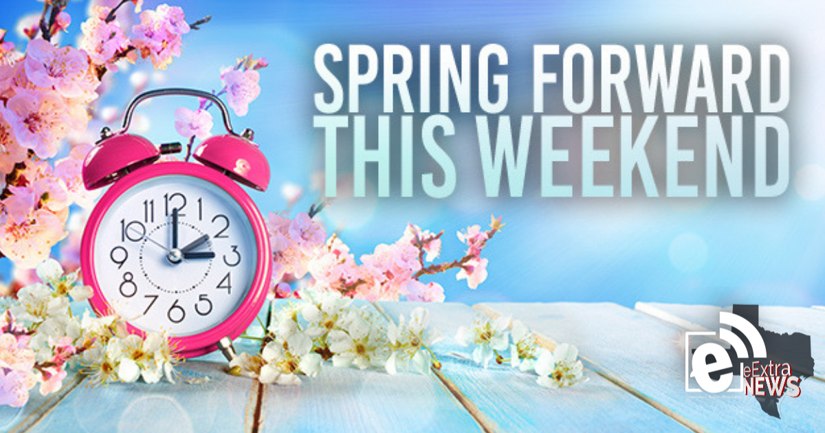 Spring ahead with Daylight Saving Time tonight at 2 a.m.