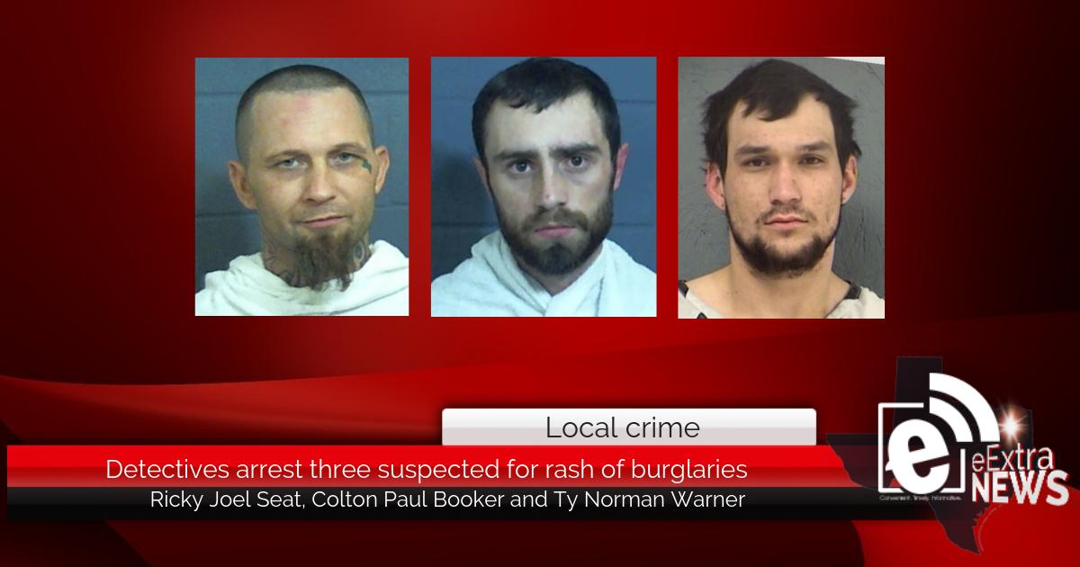 Detectives arrest three suspected for rash of burglaries