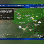 Cloudy with some showers and storms today || Weather outlook