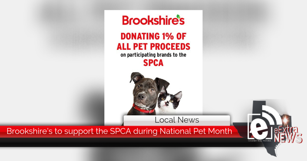 Brookshire's to support SPCA during National Pet Month