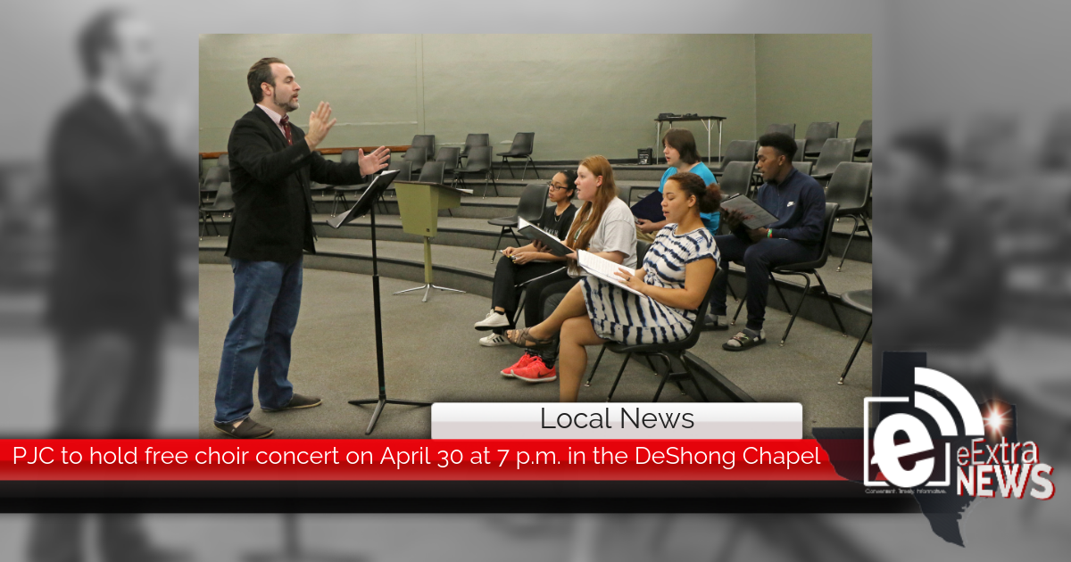 PJC to hold free choir concert on April 30 at 7 p.m. in the DeShong Chapel