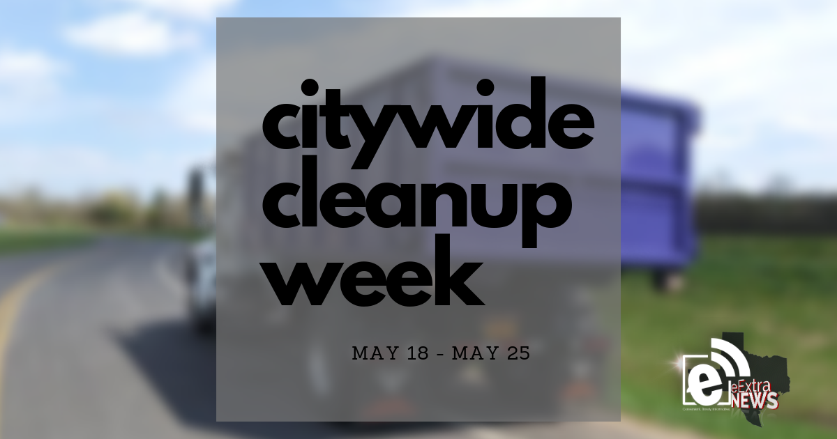 Citywide cleanup week is slated for May 18 – May 25 || Get rid of big trash items