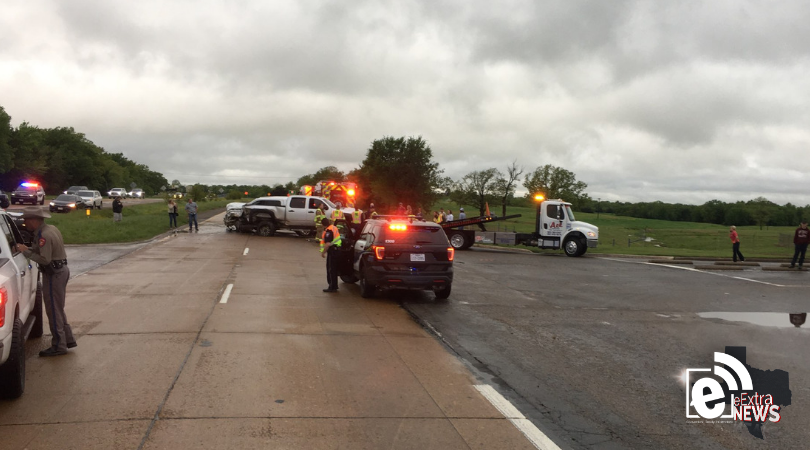 Four-vehicle crash lands two in the hospital