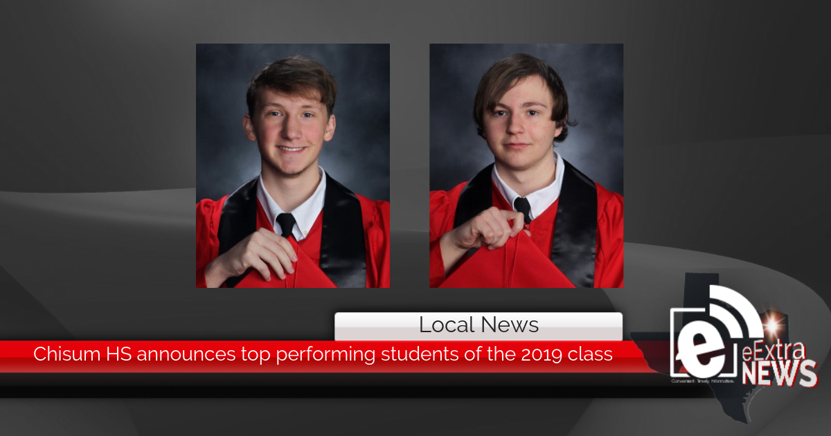 Chisum High School announces top performing students of the 2019 class