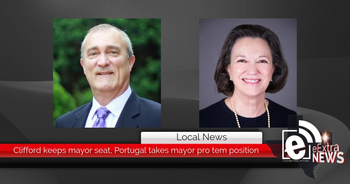 Clifford keeps mayor seat, Portugal takes mayor pro tem position