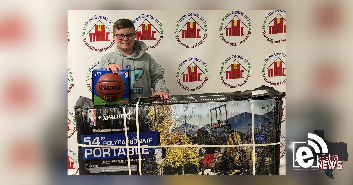 Fifth-grade student donates basketball goal to New Hope Center of Paris