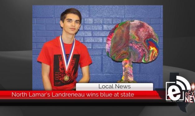 North Lamar's Landreneau wins blue at state || Sculpture makes mark at State VASE competition