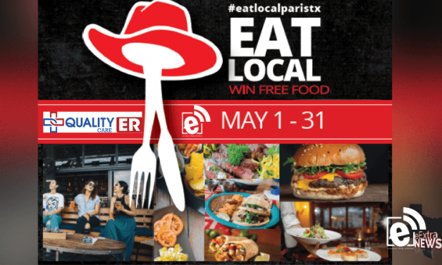 Eat local and enter to win big this Friday || #eatlocalparistx