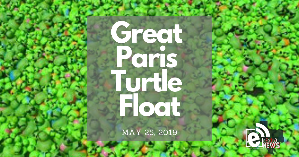 Annual Great Paris Turtle Float set for May 25, 2019 || Video