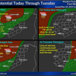 Severe weather expected today through Tuesday    Sponsored by Quality Roofing