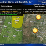 Morning storms expected today    Sponsored by Quality Roofing