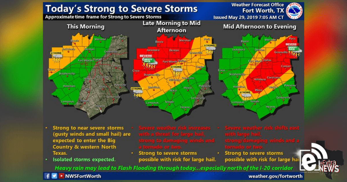 Strong To Severe Storms Expected Throughout The Area
