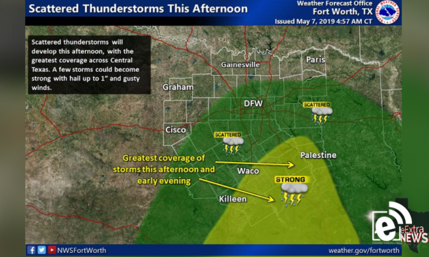 Scattered thunderstorms possible today    Sponsored by Quality Roofing