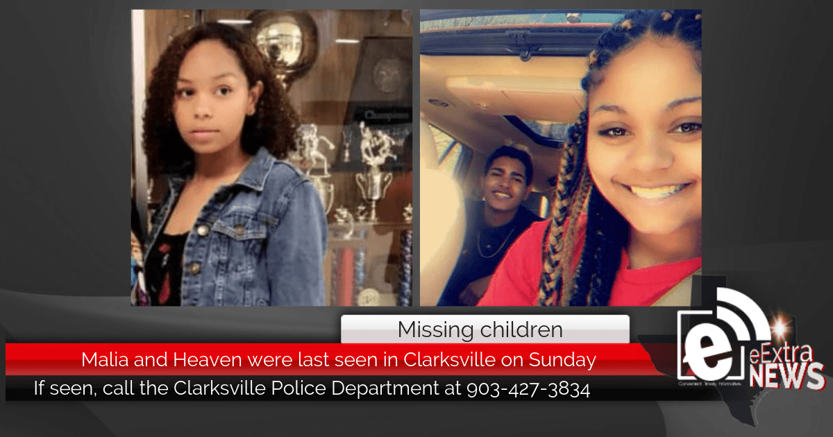UPDATED: Missing children FOUND: Malia and Heaven were last seen in